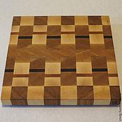 Для дома и интерьера ручной работы. Ярмарка Мастеров - ручная работа Торцевая разделочная доска 30х30х3. Handmade.