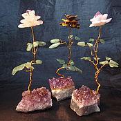 Подарки к праздникам ручной работы. Ярмарка Мастеров - ручная работа подарок к новому году, роза из камня, каменная роза на подставке. Handmade.