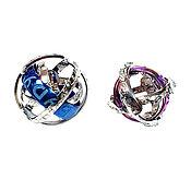 handmade. Livemaster - original item Paired Sphere rings made of platinum, white gold and titanium. Handmade.