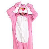 Cosplay costumes handmade. Livemaster - original item Pink Panther Kigurumi - Custom Handmade - Anti-pill Fleece Pyjamas. Handmade.