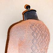 Одежда ручной работы. Ярмарка Мастеров - ручная работа Тонкий свитер кид-мохер цвета манго. Handmade.
