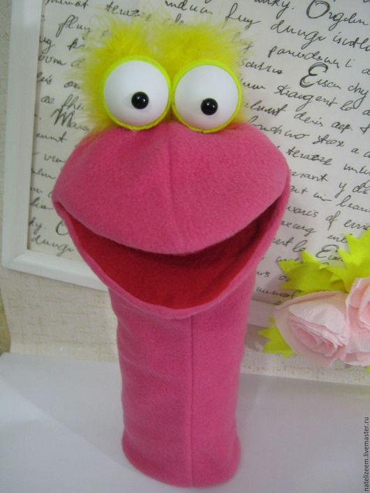 Кукольный театр ручной работы. Ярмарка Мастеров - ручная работа. Купить перчаточная кукла маппет птица. Handmade. Фуксия, маппет
