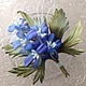 Броши ручной работы. Ярмарка Мастеров - ручная работа. Купить Дельфиниум. Handmade. Дельфиниум, синий цветок, букет цветов