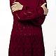 Кофты и свитера ручной работы. Ярмарка Мастеров - ручная работа. Купить Туника. Handmade. Бордовый, туника спицами