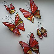 Для дома и интерьера ручной работы. Ярмарка Мастеров - ручная работа Бабочки и стрекозы. Декор.. Handmade.