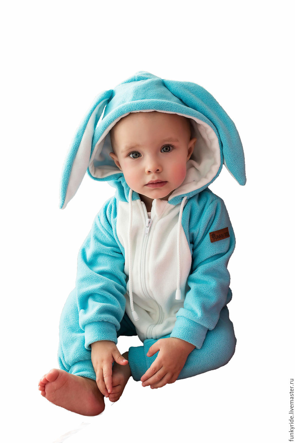Romper baby Bunny Snow SNOW BUNNY FUNKY HOME KIDS SUIT, Overalls for children, Magnitogorsk,  Фото №1