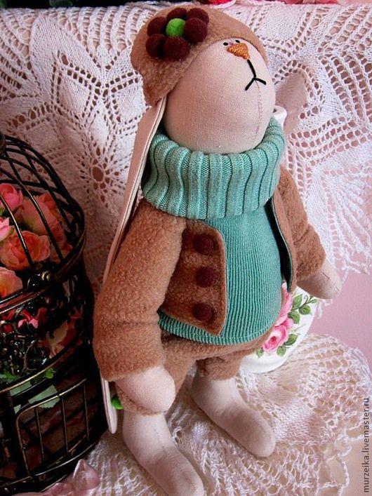 Куклы Тильды ручной работы. Ярмарка Мастеров - ручная работа. Купить Тильда кролик Мятный шоколад. Handmade. Мятный