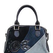 Винтаж handmade. Livemaster - original item Suede bag in three colors ( genuine leather). Italy, brand. Handmade.