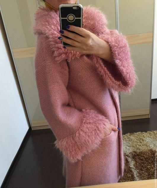 """Верхняя одежда ручной работы. Ярмарка Мастеров - ручная работа. Купить Пальто """"Кашемировая роза"""". Handmade. Розовый, мохер 70%"""