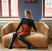 Одежда ручной работы. Ярмарка Мастеров - ручная работа Вязаное платье из кашемира, платье-свитер. Handmade.