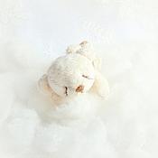 Мягкие игрушки ручной работы. Ярмарка Мастеров - ручная работа Сплюша Зефирчик  (8 см). Handmade.