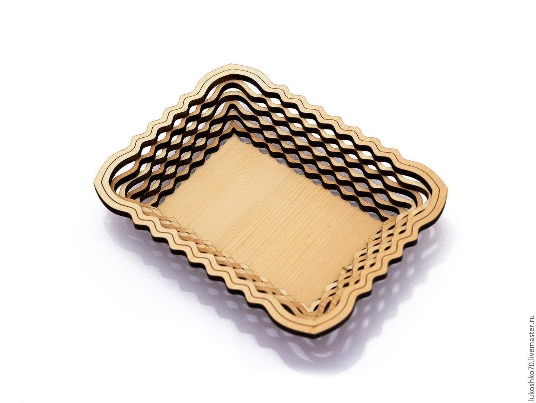 Plate of cedar rectangular. dish wooden, Plates, Tomsk,  Фото №1