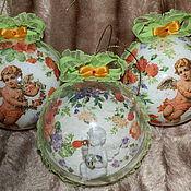 """Подарки к праздникам ручной работы. Ярмарка Мастеров - ручная работа """"Цветы жизни"""" набор елочных шаров. Handmade."""