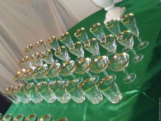 Винтажная посуда. Ярмарка Мастеров - ручная работа. Купить Немецкий хрустальный комплект для застолья На 8 персон. Handmade.