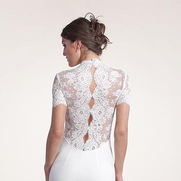Свадебный салон ручной работы. Ярмарка Мастеров - ручная работа 146: свадебное платье с кружевной спиной. Handmade.