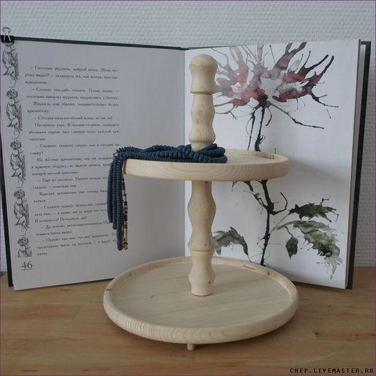 Кухня ручной работы. Ярмарка Мастеров - ручная работа. Купить Двухъярусная ваза. Handmade. Белый, винтаж, кексы