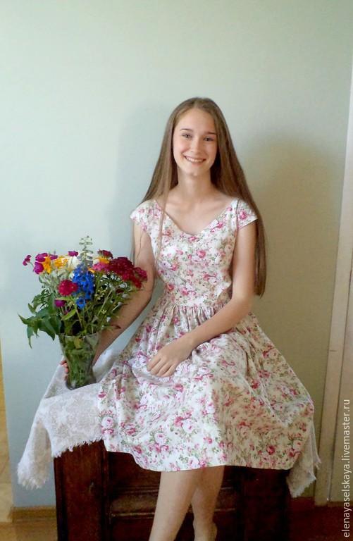 """Платья ручной работы. Ярмарка Мастеров - ручная работа. Купить Платье """"Provansale"""". Handmade. Разноцветный, винтажный стиль, хлопок американский"""