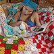 """Текстиль, ковры ручной работы. Вязаное крючком покрывало """"Цветное утро"""". Вязание  Лоскутное шитье Пэчворк (Svetlana-Svet). Интернет-магазин Ярмарка Мастеров."""