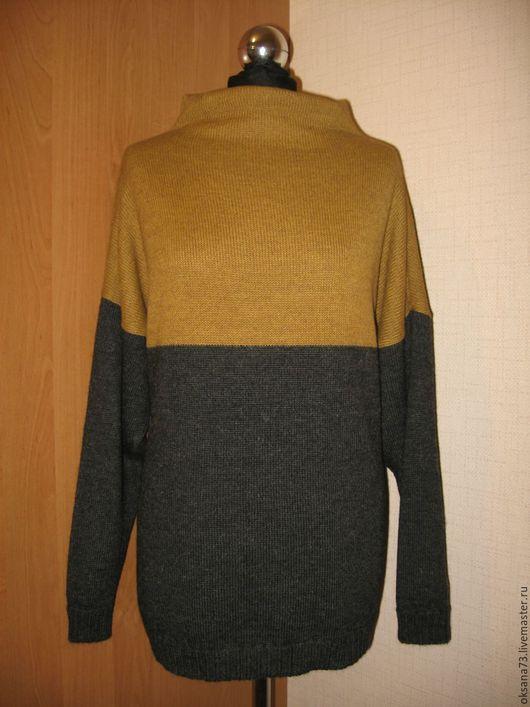 """Кофты и свитера ручной работы. Ярмарка Мастеров - ручная работа. Купить Джемпер """"Горчица на асфальте"""". Handmade. Темно-серый, свитер"""
