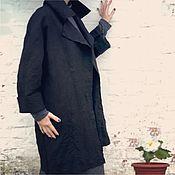 Одежда ручной работы. Ярмарка Мастеров - ручная работа Чёрное женское пальто из шерсти. Handmade.