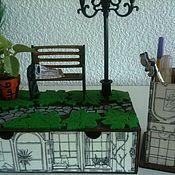 """Канцелярские товары ручной работы. Ярмарка Мастеров - ручная работа Канцелярский настольный набор """"Рассел сквер"""". Handmade."""