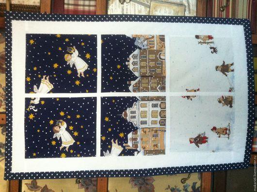 """Текстиль, ковры ручной работы. Ярмарка Мастеров - ручная работа. Купить Панно """"зимнее окно"""". Handmade. Красивое украшение"""