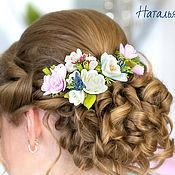 Цветы из фоамирана в прическу невесты.