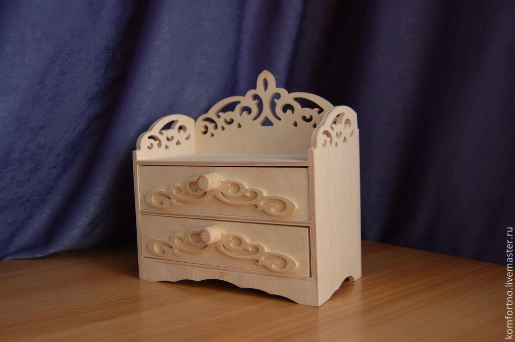 Mini dresser.147. Blank for decoupage and painting