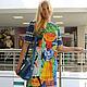 """Платья ручной работы. Ярмарка Мастеров - ручная работа. Купить Платье """"В далекой Африке"""" из жаккарда Stella Jean. Handmade."""