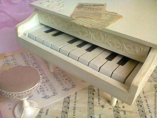 Детская ручной работы. Ярмарка Мастеров - ручная работа. Купить Усталый рояль. Handmade. Белый, музыка