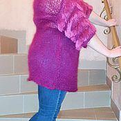 """Одежда ручной работы. Ярмарка Мастеров - ручная работа Вязанная туника """"Фуксия"""". Handmade."""