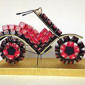 Цветы и флористика ручной работы. Ярмарка Мастеров - ручная работа Мотоцикл из конфет. Handmade.