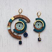 Украшения handmade. Livemaster - original item Earrings a symmetrical. Handmade.