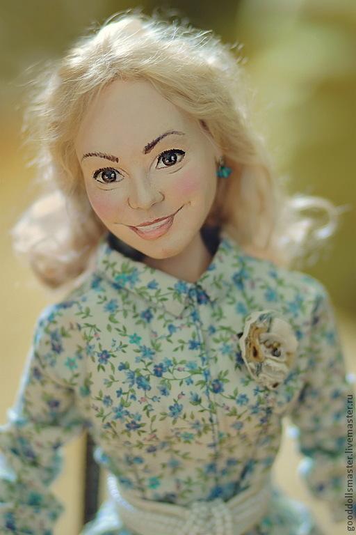 Портретные куклы ручной работы. Ярмарка Мастеров - ручная работа. Купить Портретная кукла Наташа:). Handmade. Кукла в подарок