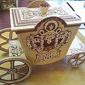 Подарки к праздникам handmade. Livemaster - original item Coach-Box from birch bark. Handmade gift. Handmade.