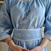 Одежда handmade. Livemaster - original item Boho linen long summer dress