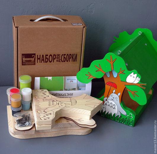 """Развивающие игрушки ручной работы. Ярмарка Мастеров - ручная работа. Купить Набор (с контурами рисунка и красками) - Кормушка """"Тоторо"""". Handmade."""