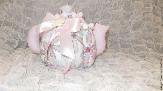 Кухня ручной работы. Ярмарка Мастеров - ручная работа. Купить Чайник текстильный. Handmade. Бледно-розовый, текстиль для дома, нежный