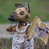 Куклы и игрушки ручной работы. Ярмарка Мастеров - ручная работа Джуниор (немецкая овчарка). Handmade.