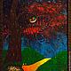 """Абстракция ручной работы. Ярмарка Мастеров - ручная работа. Купить Пиклид """"Чеширский кот"""". Картина живущая в темноте. Handmade."""