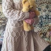 """Одежда ручной работы. Ярмарка Мастеров - ручная работа Вязанное пальто на спицах  """"Миледи"""", авторская работа. Handmade."""