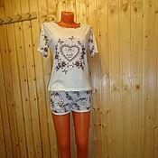 """Одежда ручной работы. Ярмарка Мастеров - ручная работа Коллекция """"Сакура"""" Пижама-шорты. Handmade."""