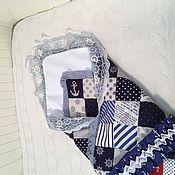 """Конверты на выписку ручной работы. Ярмарка Мастеров - ручная работа Одеяло-конверт на выписку """"Морское"""". Handmade."""