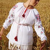 """Одежда handmade. Livemaster - original item Женская вышиванка """"Розы"""". Handmade."""