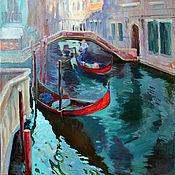 Картины и панно ручной работы. Ярмарка Мастеров - ручная работа канал в Венеции. Handmade.