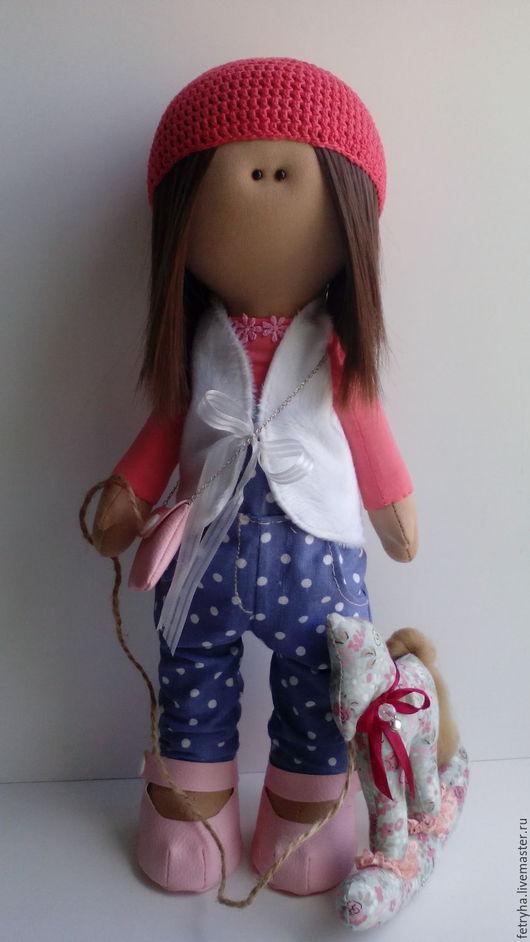 Куклы тыквоголовки ручной работы. Ярмарка Мастеров - ручная работа. Купить Куколка с лошадкой. Handmade. Комбинированный, большеножка, ребенку