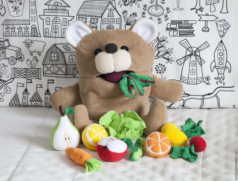Развивающая игрушка. Медведь проглот, Мягкие игрушки, Кемь,  Фото №1