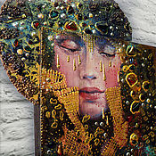 """Картины и панно ручной работы. Ярмарка Мастеров - ручная работа Декоративное панно """"Сны....."""" по мотивам работ Angela Betta Casale.... Handmade."""