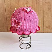 """Аксессуары handmade. Livemaster - original item Panama hat for girl """" Pink summer"""". Handmade."""