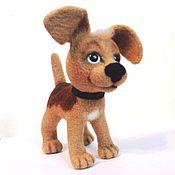 Куклы и игрушки ручной работы. Ярмарка Мастеров - ручная работа Песик Тобик, валяная игрушка. Handmade.